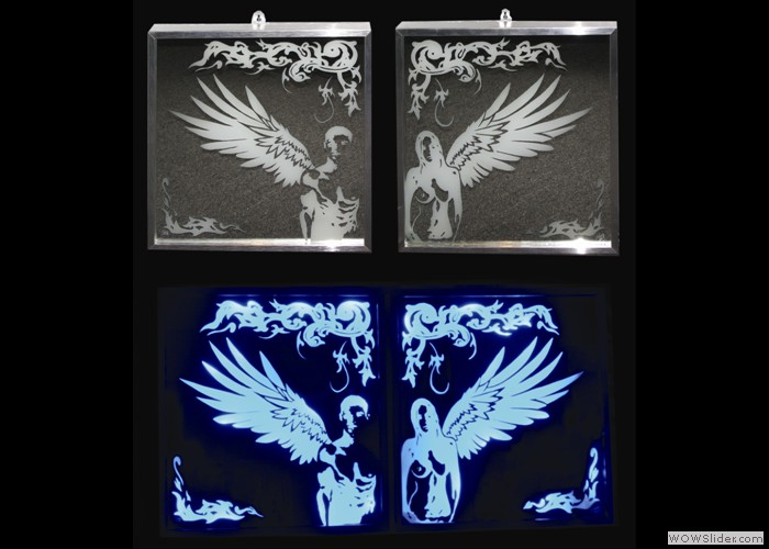 £275 Guardian-Angels Illuminated Mirror
