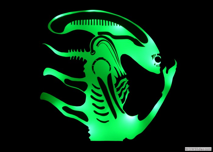 £ 275 Alien Illuminated Mirror
